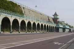 Stock Photo of Covered walkway on Brighton Seafront. Sussex. England