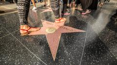 Barbara Streisand's Hollywood Star - stock photo