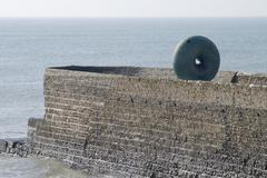 Breakwater at Brighton. East Sussex. England Stock Photos