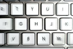 Modern aluminum keyboard - stock photo