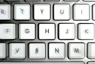 Stock Photo of Modern aluminum keyboard