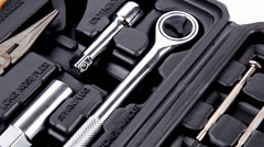 Toolbox with all you need tools Stock Footage