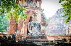 Old temple in ayutthaya thailand Stock Photos