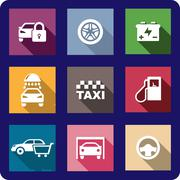 Stock Illustration of collection of motor transport icons