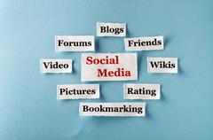Social media collage Stock Photos