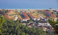 Kemer city - famous Mediterranean resort, Turkey - stock photo