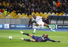 Uefa champions league game between fc paris saint-germain and fc dynamo kyiv Stock Photos