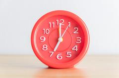 red clock process retro vintage effect - stock photo