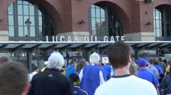 NCAA Lucas Oil Indianapolis - stock footage