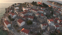 Aerial view of Rogoznica, a small village on the Croatian coast Stock Footage