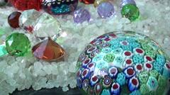 1214 Semi-precious stones Stock Footage