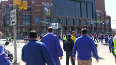 NCAA Tournament crowd Lucas Oil Stock Footage