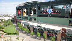 Arizona Diamondbacks Chase Field, Phoenix - stock footage