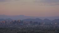 Downtown Phoenix, Arizona dusk panorama Stock Footage