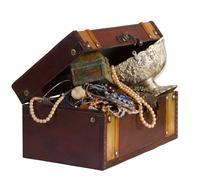 Treasure trunk Stock Photos