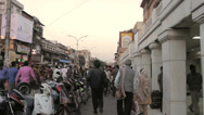 Stock Video Footage of Chandni Chowk  panning across traffic circle