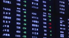 Tokyo Stock Exchange - stock footage