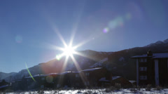 JacksonHole WY Mountain Sunset UHD Stock Footage