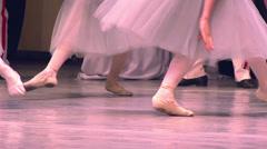 Three Dancers Ballet Stock Footage