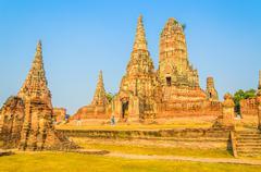 Wat chai watthanaram temple in ayutthaya thailand Stock Photos