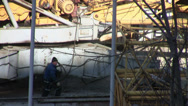 Stock Video Footage of Works at the construction site. Advancing cable