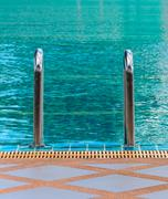 Swimming pool stair Stock Photos