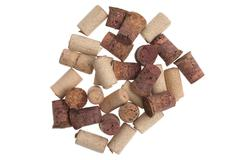 Used corks from bottles guilt - stock photo