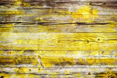 Yellow wood background Stock Photos