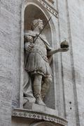 Isolated Shot of the Statue of Saint Charlemagne Stock Photos