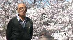 Aging senior people in Japan Stock Footage