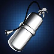 Metallic fire extinguisher Stock Illustration