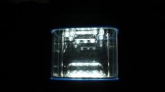Stock Video Footage of rectangular lights in the dark