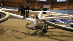 Bicycle on Velodrome Stock Footage