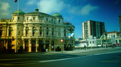 Teatro Arriaga on in Bilbao, Spain.time lapse,4k Stock Footage