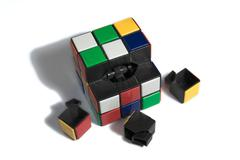 Broken Rubik cube Stock Photos