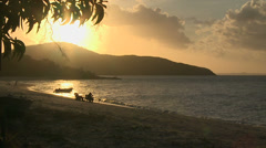 Fishing at Sunset in Australia Stock Footage