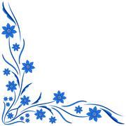 Stock Illustration of ornament vintage floral.