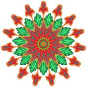 Stock Illustration of circle floral ornament