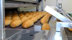 Baked loaf of bread Stock Footage