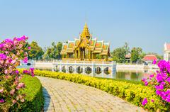 Stock Photo of architecture bang pa in palace thailand
