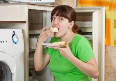Terrible hunger - stock photo