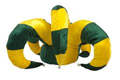 Yellow and green joker hat Stock Photos