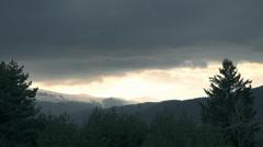 Sunlight between cloud mountain shine Stock Footage