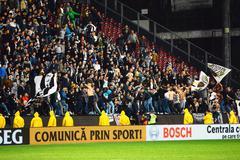 Soccer fans - stock photo