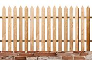 Stock Illustration of fir wood simple isolated fence