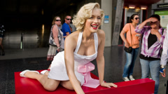 Marilyn Monroe Wax Figure Stock Footage