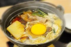 sukiyaki in japanese style - stock photo