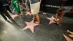 Hollywood Walk of Fame Stock Footage