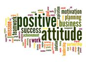 Stock Illustration of positive attitude word cloud