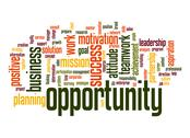 Stock Illustration of opportunity word cloud